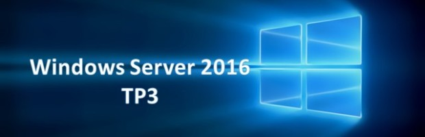 Windows Server 2016 TP3