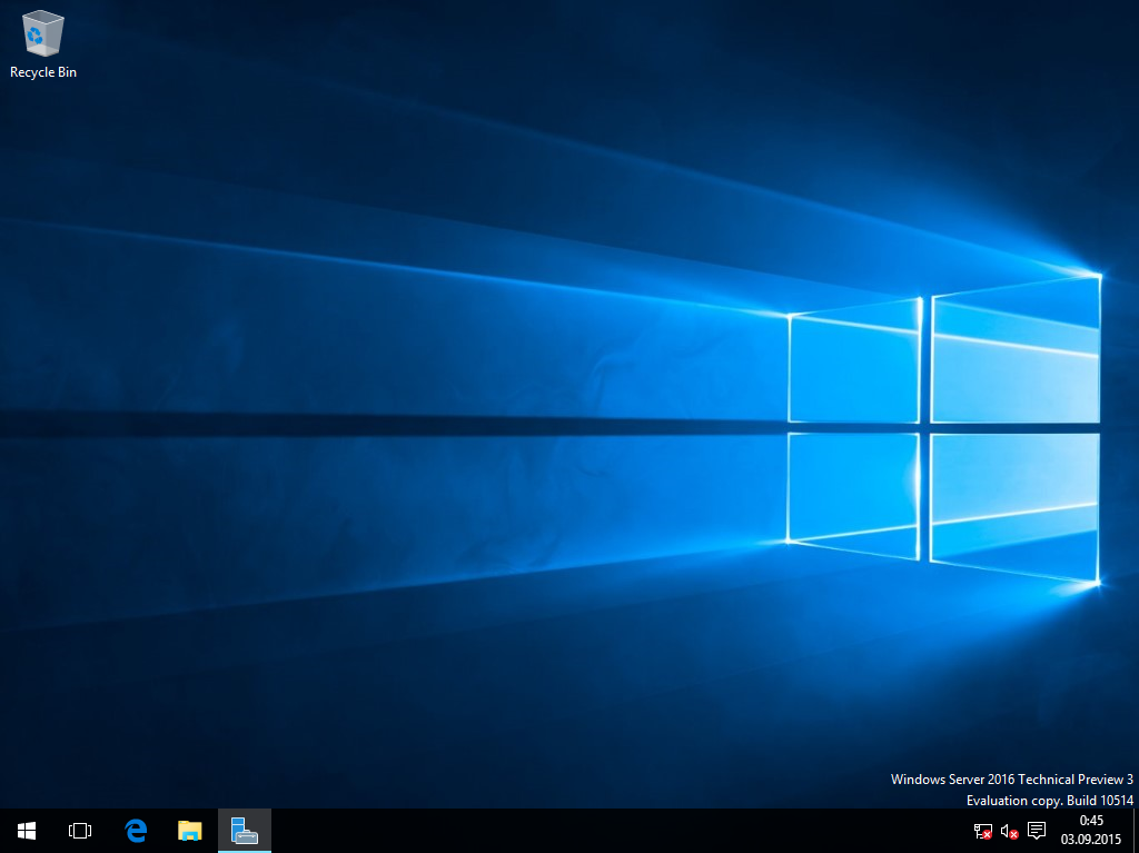 Windows Server TP3 desktop