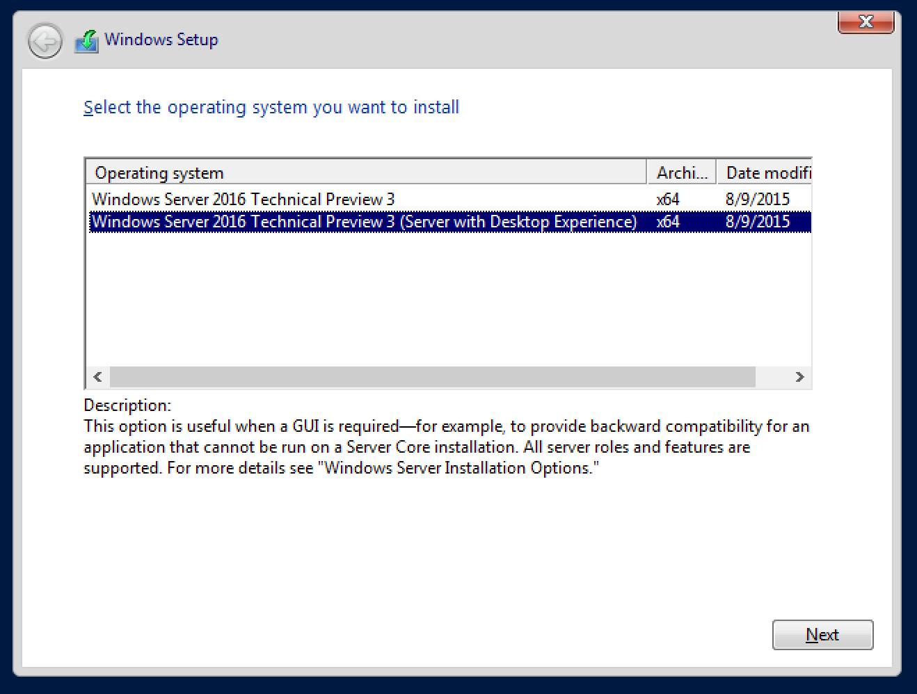 Windows Server TP3 setup